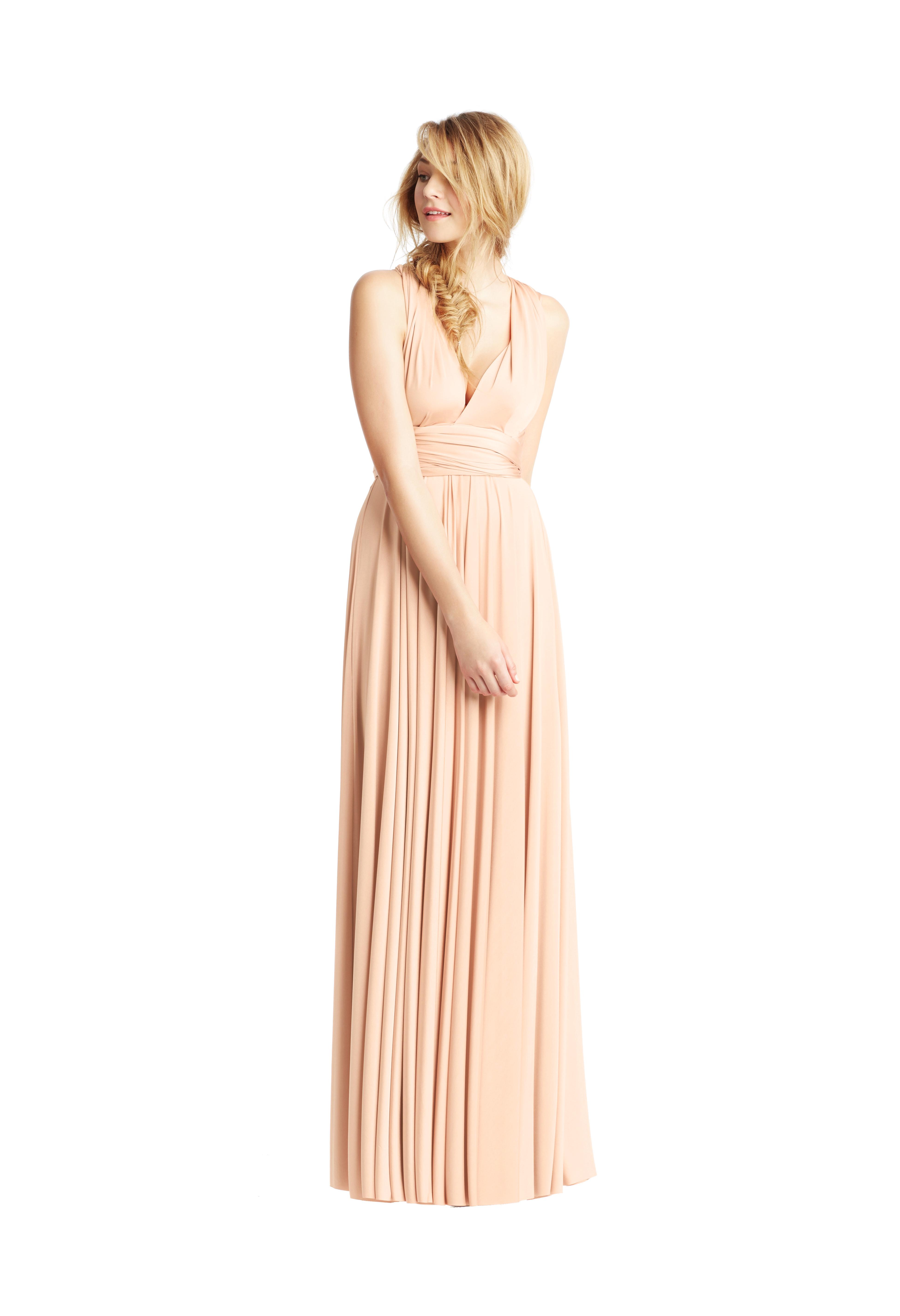 Peach Classic Ballgown